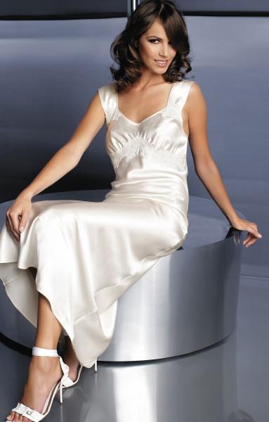 Luxus Seidensatin Nachtkleid Charlene