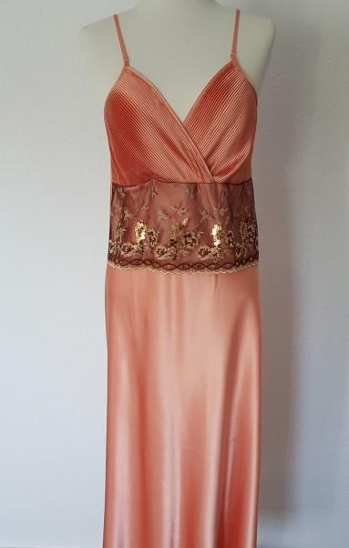 Damen Luxus Satin Nachtkleid Automne