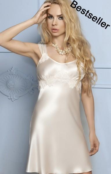 Luxus Seidensatin Nachtkleid Sandy
